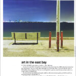 Bench and Poles, a night photograph by John Vias, reprinted in Diablo magazine