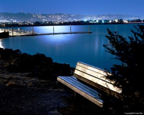 Moonlit Bench