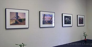 Partial installation view of Noctilucent exhibition at Stanford Art Spaces