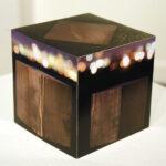 """Night Cube, a mixed media artwork by John Vias"
